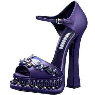Фиолетовые туфельки Prada
