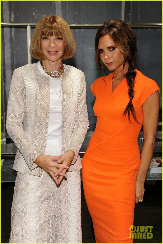 Анна Винтур и Виктория Бекхэм на Fashion`s Night Out 2012