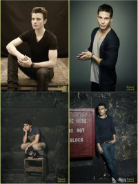 Звезды Glee в кампании Faces of Fox: квартет горячих мужчин