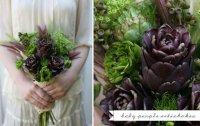 Букет невесты из овощей: молодые артишоки