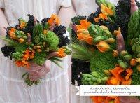 Букет невесты из овощей: морковь