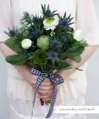 Букет невесты из овощей: зеленые артишоки