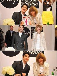 Анна Винтур и Даррен Крисс на Fashion`s Night Out 2012