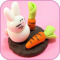 Идеи для украшения печенья: зайчик с морковкой