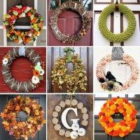 Осенние венки на двери