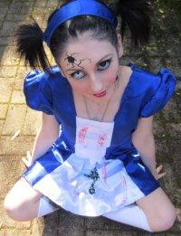 Макияж на Хэллоуин: злая куколка