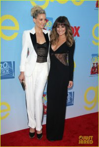 Лиа Мишель и Кейт Хадсон на премьере четвертого сезона Glee