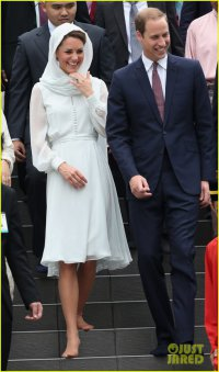 Принц Уильям и герцогиня Кейт посетили мечеть Assyakirin в Куала-Лумпуре