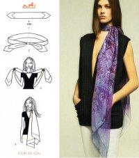 Как завязывать шарф: горжетка