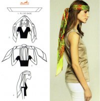 Как завязывать шарф: платок на голове