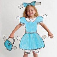 Костюм для ребенка на Хэллоуин: бумажная кукла