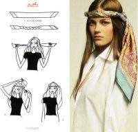 Как завязывать шарф: шнурок