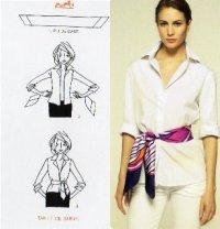 Как завязывать шарф: пояс