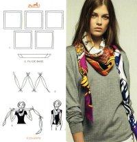 Как завязывать шарф: канат