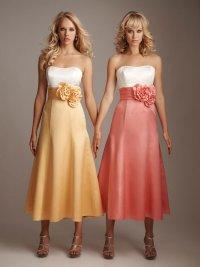 Двухцветные платья для подружек невесты