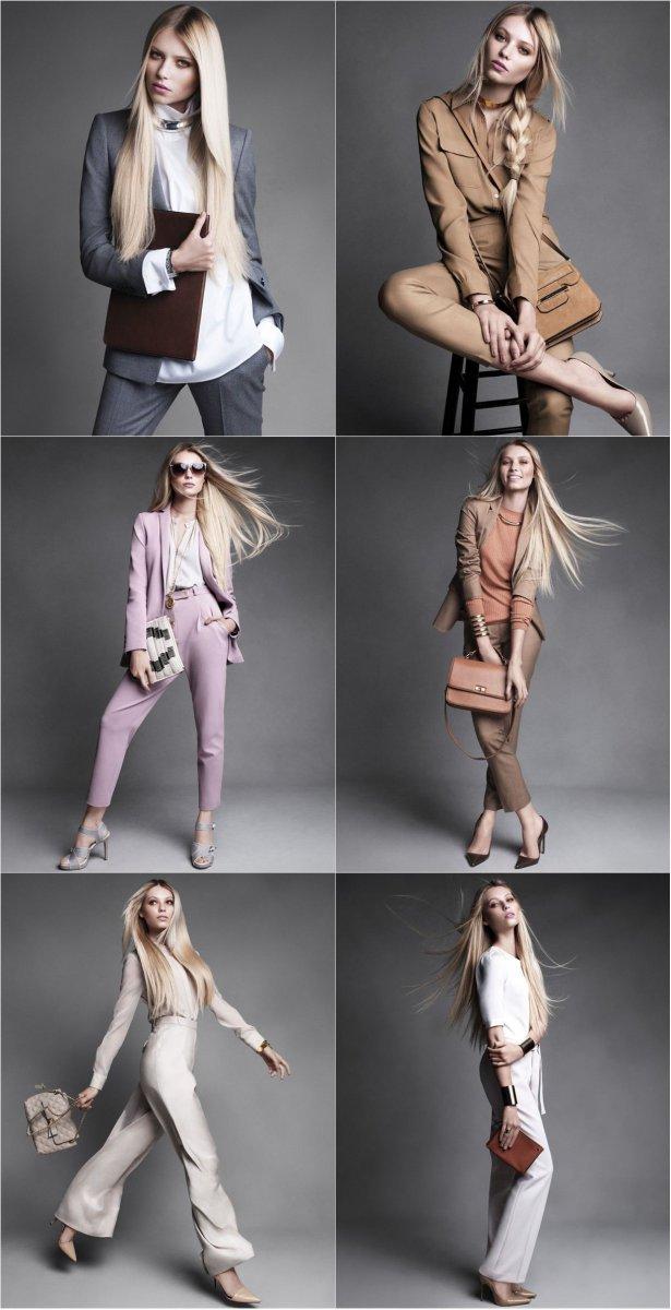 Осень в офисе: Вика Фалилеева для Harper`s Bazaar