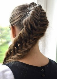 Идея для прически: хвост-коса