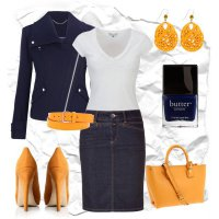 Осенний наряд 2012: оранжевый и темно-синий