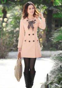 Романтичное светло-розовое пальто