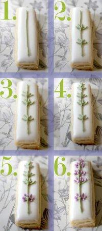 Идеи для украшения печенья: лаванда