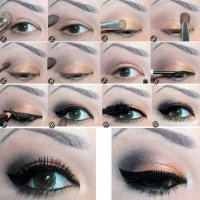 Красивый макияж с широкими стрелками
