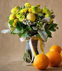 Букет невесты из овощей: лимонные нотки