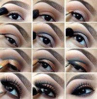Красивая идея для макияжа в насыщенных тонах