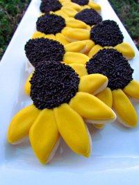 Идеи для украшения печенья: желтые ромашки