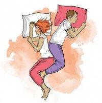 Позы сна и характер отношений: спиной к спине