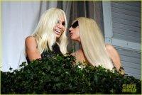 Леди Гага и Донателла Версаче в Милане