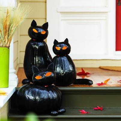 Фонари Джека в виде черных котов