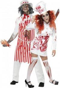 Костюмы на Хэллоуин для пары: зомби