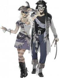 Костюмы на Хэллоуин для пары: призраки-пираты