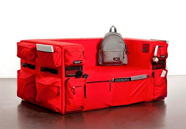 Диваны-рюкзаки Pocket Sofa от Eastpak и Quinze & Milan