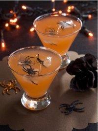 Идея для украшения коктейлей на Хэллоуин