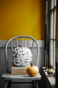 Идеи для дома на Хэллоуин: декупаж по тыкве