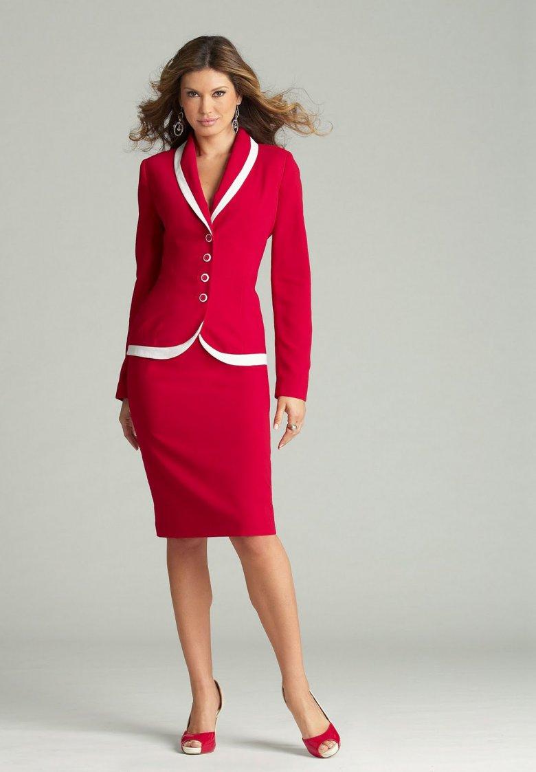 Какой цвет делового костюма выбрать: красный