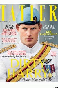 Принц Гарри на обложке британского издания Tatler
