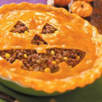Блюда на Хэллоуин: пирог «Фонарь Джека»