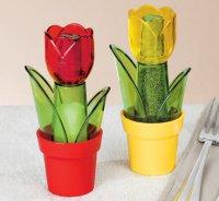 Солонка и перечница в виде тюльпанов