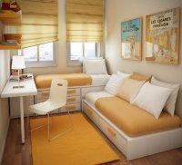 Как визуально увеличить комнату: яркие и контрастные тона