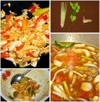 Кислый суп с креветками Том Ям Кунг