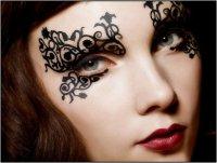 Идеи для макияжа на Хэллоуин: Face lace