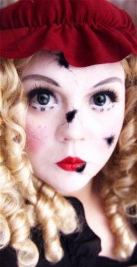 Макияж на Хэллоуин: разбитая кукла