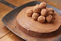 Тортик, шоколадно-малиновый)))