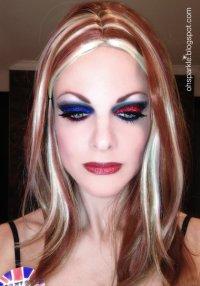 «Британский» макияж на Хэллоуин