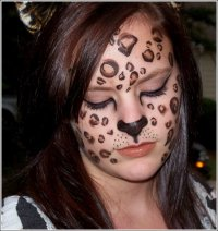 Макияж леопарда на Хэллоуин