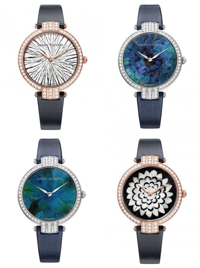 Коллекция драгоценных часов Harry Winston Premier Feathers