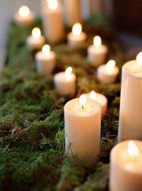 Свечи на мху