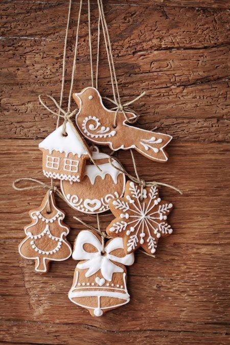 Съедобные украшения к Новому году для квартиры или дома